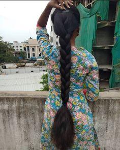 Long Hair Indian Girls, Indian Long Hair Braid, Indian Hairstyles, Down Hairstyles, Braided Hairstyles, Ponytail Updo, Braid Hair, Cut My Hair, Braids For Long Hair