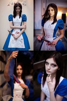 The darker side of Alice, something about this makes me think of Lizzie Borden, I think it's the combination of proper and gruesome.