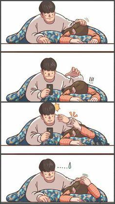 Love you is my happiness Love Cartoon Couple, Cute Couple Comics, Comics Love, Couples Comics, Cute Couple Art, Anime Love Couple, Cute Comics, Cute Anime Couples, Cute Love Cartoons
