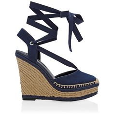 be2caea78fb6 White House Black Market Lace-Up Espadrille Wedges ( 125) ❤ liked on  Polyvore