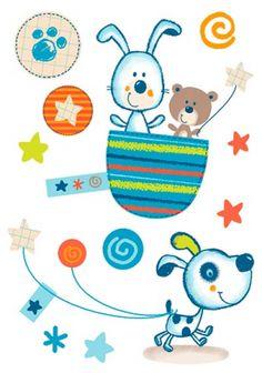 1073 Baby Posters, Baby Zimmer, Embroidery Alphabet, Cartoon Pics, Baby Boy Nurseries, Baby Prints, Baby Decor, Animal Design, Dog Art