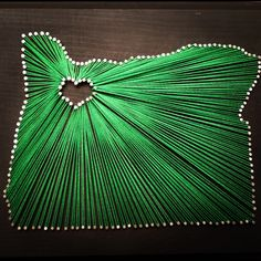 Green heart in Oregon string and nail art I did :D