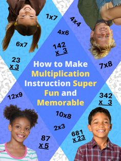 Come learn some quick, fun, memorable and multisensory ways of teaching the times tables as well as long multiplication for elementary students. Multiplication Strategies, Math Strategies, Long Multiplication, Math Fractions, Color Activities, Teaching Activities, Kids Learning, Mental Math Tricks, Third Grade Math