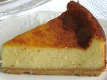 Healthier cheesecake for Shabbos breakfast- Filling: 2 pounds farmers cheese  4 ounces butter, softened 1 cup sugar (is too sweet) 8 large eggs, separated 2 heaping tablespoons all-purpose flour 1 heaping tablespoon cornstarch 1 level tablespoon baking powder 3 teaspoon vanilla