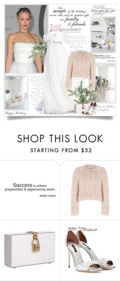 """""""The magic of the holidays never ends and it is greatest  gifts are family and friends!!"""" by lilly-2711 ❤ liked on Polyvore featuring WALL, Giambattista Valli, RED Valentino and Dolce&Gabbana"""