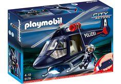 Polizeihubschrauber mit LED-Suchscheinwerfer - PM Germany PLAYMOBIL® Deutschland