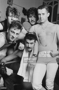 Brian Nash, Mark O'Toole, Peter Gill, Paul Rutherford and Holly Johnson of British band Frankie Goes To Hollywood on November Get premium, high resolution news photos at Getty Images Fashion Show Poster, Holly Johnson, Thompson Twins, Frankie Goes To Hollywood, Peter O'toole, Fashion Photography Inspiration, Boy Photos, Pop Music, Pop Group