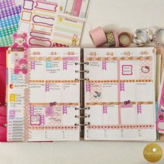 How I Decorate and Plan My Weeks In My Erin Condren Planner