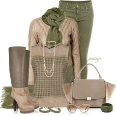 Stylish Outfits - sweaters, jackets, jeans, boots, necklaces, bracelets, sunglasses, scarves, handbags