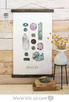 Vintage Inspired Science Posters  MINERALS & GEMS VOL. 2 by vol25, $70.00