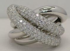 4.20 CARAT PAVE DIAMOND RING