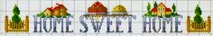 home sweet home - punto croce - cross Stitch - Kreuzstich - Punto de Cruz