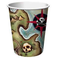 Pirates Map 9 oz Hot/Cold Cups/Case of 96