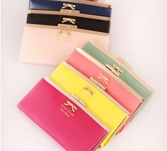 New women female bow designer brand leather long zipper wallets clutch purses phone cases carteiras femininas em couro mujer 40 #clothing,#shoes,#jewelry,#women,#men,#hats,#watches,#belts,#fashion,#style