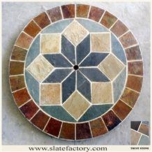 Slate Mosaic,Glass Mosaic: Stone Mosaic Tile,Glass Mosaic,Backsplash Mosaic -Page 28 Mosaic Stepping Stones, Stone Mosaic Tile, Mosaic Backsplash, Mosaic Art, Mosaic Glass, Mosaic Tiles, Flagstone Pavers, Painted Leaves, Stone Veneer