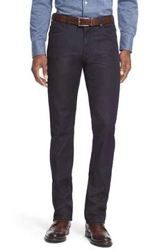 Canali CanaliSlim Mid Rise Jeans (Blue) available at #Nordstrom