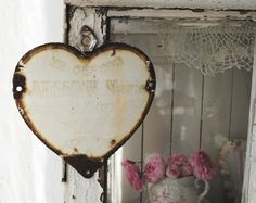 vintage french enameled memorial plaque <3<3