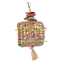 Woven Whimsy Parrot Toy for smaller Macaws such as #Quakers, #Meyer'sParrots and #Senegals.