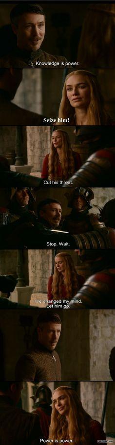 Cersei Lannister. 100% Lannister sass