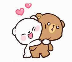 Milk And Mocha Bear Couple GIF - MilkAndMocha BearCouple Line - Discover & Share GIFs Cute Cartoon Images, Cute Couple Cartoon, Cartoon Gifs, Cute Cartoon Wallpapers, Hug Cartoon, Animiertes Gif, Hug Gif, Animated Gif, Stickers Kawaii