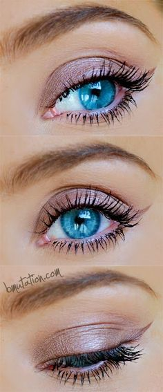 """Mugshot all over the lid Nooner for the crease Limit to blend it out and make the look """"rounder"""" and """"softer"""" Factory as the slightest wing just 1/3 of the eye, I didn't bring all the way across the lid. Strange under the brow ."""