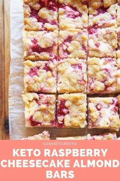 These Keto Raspberry Cheesecake Almond Bars are the perfect keto-fied dessert for your next party! They are keto low-carb grain-free gluten-free treat made to share with family and friends. Keto Desserts, Keto Friendly Desserts, Keto Dessert Easy, Keto Snacks, Delicious Desserts, Holiday Desserts, Dessert Bars, Desserts Diy, Diabetic Snacks