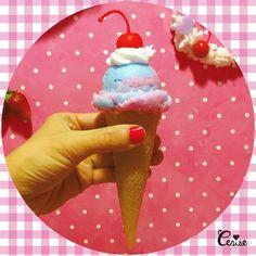 リアルサイズのチェリーアイスクリームキャンドルただいま全色揃ってます #cerisestore #candle #icecream #cherry #cerise