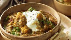 Lentilles au poulet et vin blanc Weight Watchers, recette d'un bon petit plat complet et léger très facile et rapide à cuisiner pour un repas équilibré.