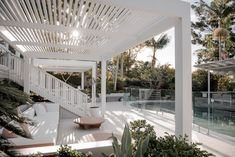 The Fig Tree Revealed – Byron Bay Weddings - Modern Exterior Design, Interior And Exterior, Fresco, Outdoor Spaces, Outdoor Living, Houses Architecture, Living Pool, Tree Restaurant, Beach Bungalows