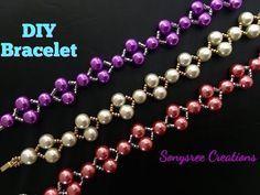 Last Minute Christmas Gift Idea ..Elegant Beaded Bracelet or Wedding Bracelet - YouTube