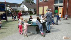 Pingpongtafel Afgerond Groen bij OBS Beekbergen in Beekbergen