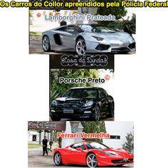 Os Carros do Collor apreendidos pela Polícia Federal ➤ http://www1.folha.uol.com.br/poder/2015/07/1655505-pf-apreende-lamborghini-ferrari-e-porsche-de-collor-em-fase-da-lava-jato.shtml ②⓪①⑤ ⓪⑦ ①④ #BrazilCorruption