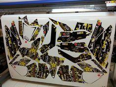 Suzuki LTR 450 rockstar graphics kit wrap
