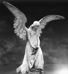 ☫ Angelic ☫ winged cemetery angels and zen statuary – von Jörg Hirschi Angel Cemetery Angels, Cemetery Statues, Cemetery Art, Angels Among Us, Angels And Demons, Art Sculpture, Sculptures, Statue Ange, Recoleta Cemetery