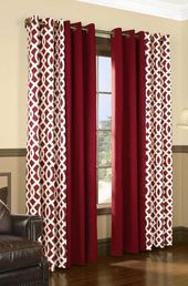 New living room red curtains patterns Ideas Red Curtains Living Room, Brown Curtains, Home Curtains, Living Room White, Living Room Windows, Curtains With Blinds, Living Room Paint, New Living Room, Living Room Modern