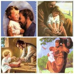 Joseph, foster father of Jesus. Just imagine. Catholic Art, Catholic Saints, Religious Art, Jesus Christ Images, Jesus Art, Religious Pictures, Jesus Pictures, Jesus Childhood, Jesus Father