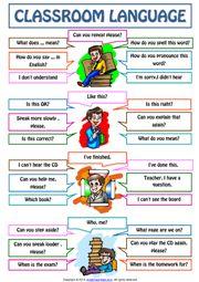 SKPanji: Classroom Language For Students Poster Worksheet English Writing Skills, Learn English Grammar, English Vocabulary Words, Learn English Words, English Language Learners, English Study, English Lessons, Teaching English, Language Lessons