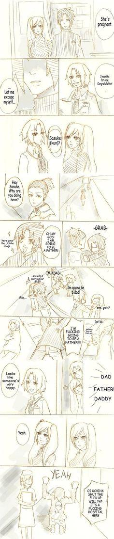 Sasuke and Good News. by Ragginess on DeviantArt