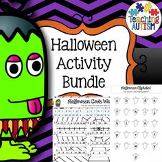 Halloween Huge Activity Bundle Worksheets Activities and No Prep  This is a HUGE bundle of all kinds of activities related to Halloween.  It includes  * Word to Picture Matching (12 pages, available separately here) * Spelling and Handwriting Task Cards (44 Cards, available separately here) * Word Puzzles (17 activities in total, available separately here) * Mazes (6 pages, available separately here) * Word Searches (5 activities in total, available separately here) * Jigsaws (36 pages in…