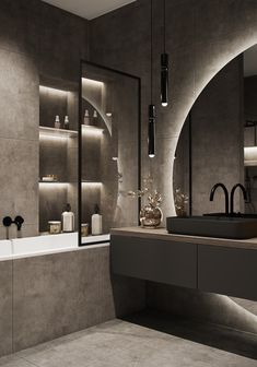 Bathroom Design Luxury, Modern Bathroom Design, Modern House Design, Modern Luxury Bathroom, Home Room Design, Dream Home Design, Home Interior Design, Condo Design, Bathroom Design Inspiration