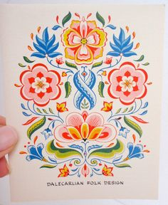 Swedish Folk Art Recipe Cards by Yorkraft by PatriBellaVintage, $14.99