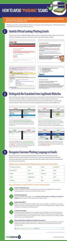 The SSL Store™ represents an info-graphic about how to avoid online phishing? Web Security, Security Technology, Computer Security, Security Tips, Online Security, Internet Safety, Computer Internet, Computer Science, Staying Safe Online