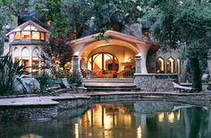Marc Whitman is an LEED-certified eco-friendly architect from Ojai, CA - a peek inside his personal residence Amazing Buildings, Amazing Architecture, Architecture Design, Landscape Architecture, Exterior Design, Interior And Exterior, Floor Design, House Design, Beautiful Homes
