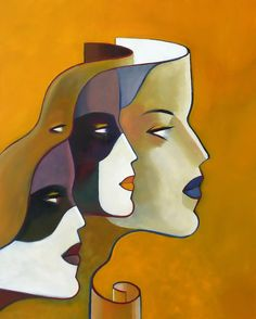 Abstract Faces, Abstract Art, Lille France, Visionary Art, Surreal Art, Geometric Art, Face Art, Surrealism, Art Pieces