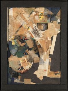 Kurt Schwitters 'Picture of Spatial Growths - Picture with Two Small Dogs', 1920–39 © DACS, 2016