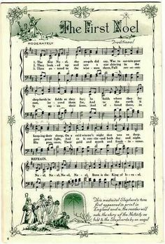 Music sheet printable.   The first noel