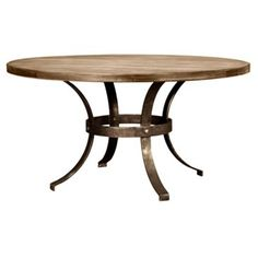 Check out this item at One Kings Lane! Marina Round Dining Table, Almond/Honey
