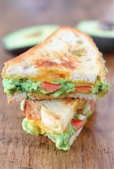 Guacamole Grilled Cheese Sandwich Recipe on twopeasandtheirpod.com.  The BEST grilled cheese sandwich!