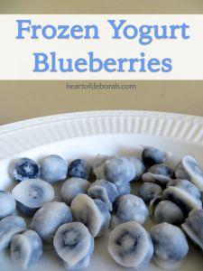 Frozen yogurt blueberries recipe