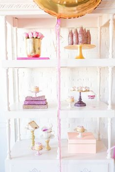 How gorgeous does our white carved post shelving look in this and girly photoshoot shot in the P&J Showroom!  Images by Hope Taylor and Styling by Caroline Birgman at Posh PR!  *Paisley & Jade Vintage & Eclectic Furniture Rentals for Events, Weddings, Theatrical Productions & Photo Shoots*